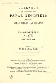 Cover of: Calendar of entries in the Papal registers relating to Great Britain and Ireland