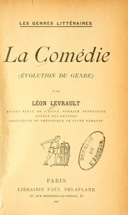 Cover of: La Comédie