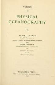 Cover of: Physical oceanography
