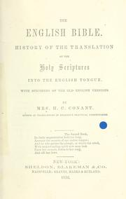 Cover of: The English Bible. | H. C. Conant