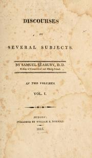 Cover of: Discourses on several subjects