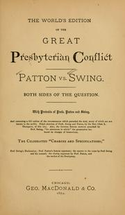 Cover of: The world's edition of the great Presbyterian conflict