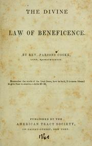 Cover of: The divine law of beneficence
