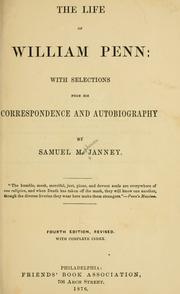 The life of William Penn by Samuel Macpherson Janney