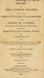 Cover of: History of the United States | Grimshaw, William