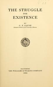 Cover of: The struggle for existence