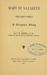 Cover of: Mary of Nazareth and her family | Merrill, Stephen Mason Bp.