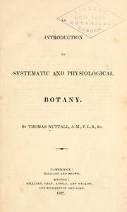 Cover of: An introduction to systematic and physiological botany