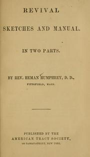 Cover of: Revival sketches and manual