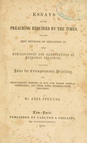 Cover of: Essays on the preaching required by the times