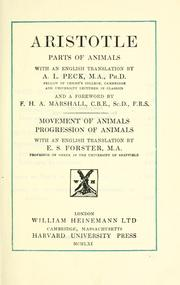 Cover of: Parts of animals