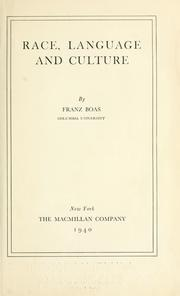 Cover of: Race, language and culture