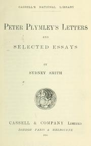 Cover of: Peter Plymley's letters: and selected essays.