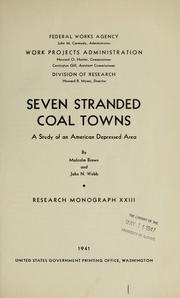 Cover of: Seven stranded coal towns | Malcolm Johnston Brown