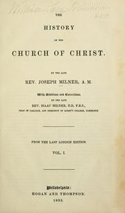 Cover of: History of the church of Christ