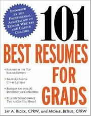 Cover of: 101 best resumes for grads