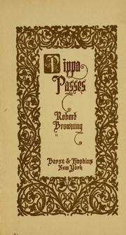 Pippa passes by Robert Browning
