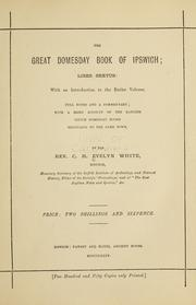 Cover of: great domesday book of Ipswich | Ipswich (England)