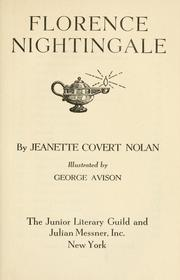 Cover of: Florence Nightingale | Jeannette Covert Nolan