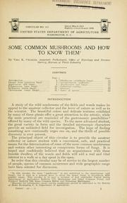 Cover of: Some common mushrooms and how to know them