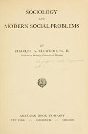 Cover of: Sociology and Modern Social Problems