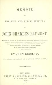 Cover of: Memoir of the life and public services of John Charles Frémont ..