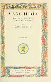 Cover of: Manchuria