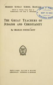 Cover of: The great teachers of Judaism and Christianity