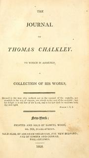 Cover of: The journal of Thomas Chalkley