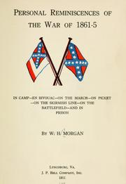 Cover of: Personal reminiscences of the war of 1861-5
