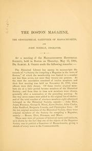 Cover of: Remarks on the Boston magazine