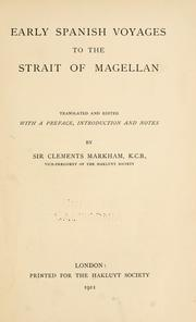 Cover of: Early Spanish voyages to the Strait of Magellan