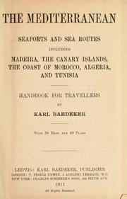 Cover of: The Mediterranean by Karl Baedeker (Firm)