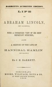 Cover of: Life of Abraham Lincoln (of Illinois.)