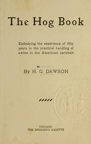Cover of: hog book | Henry Clay Dawson