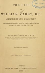 Cover of: life of William Carey, D.D. | George Smith