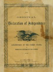 Cover of: Declaration of Independence
