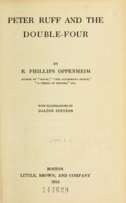 Cover of: Peter Ruff and the Double-four | E. Phillips Oppenheim