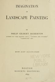Cover of: Imagination in landscape painting