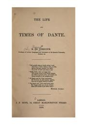 Cover of: The life and times of Dante