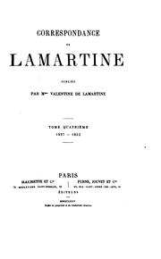 Cover of: Correspondance de Lamartine