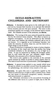 Cover of: Oculo-refractive cyclopedia and dictionary