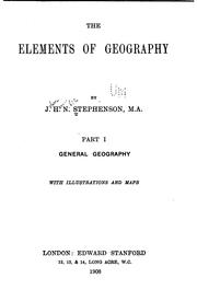 Cover of: The elements of geography