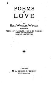 Cover of: Poems of love