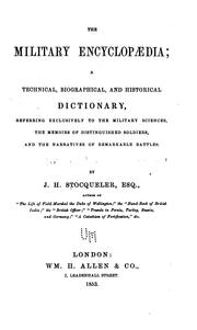 Cover of: The military encyclopaedia