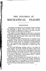 Cover of: The dynamics of mechanical flight