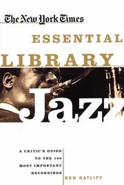 Cover of: The New York Times Essential Library: Jazz | Ben Ratliff