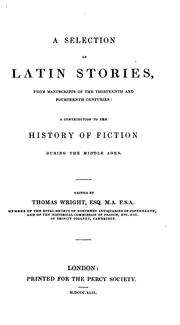 A selection of Latin stories by Wright, Thomas