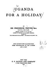 Cover of: Uganda for a holiday