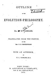 Cover of: Outline of the evolution-philosophy